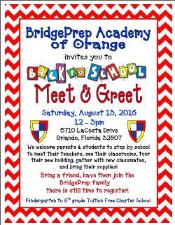 Meet greet news and announcements bridge prep academy orange meet greet news and announcements bridge prep academy orange campus m4hsunfo
