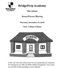 BPA Title 1 Annual Parents Meeting