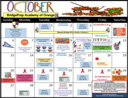 BPA of Orange 2019-2020 October Calendar