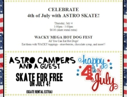 AstroSkate Camo and 4th of July Celebration Information!